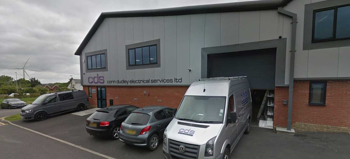 Exterior shot of the CDS Electrical offices