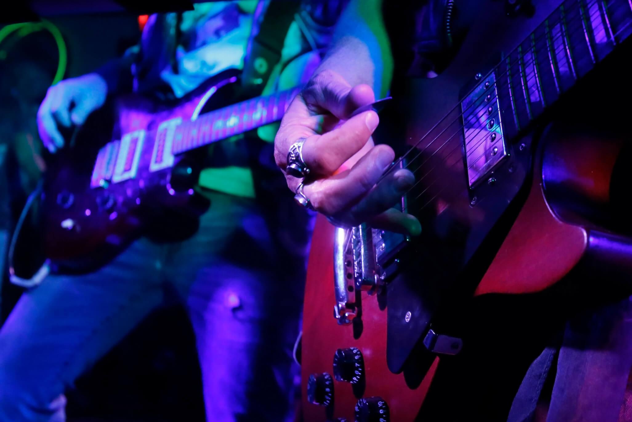 guitarist jamming