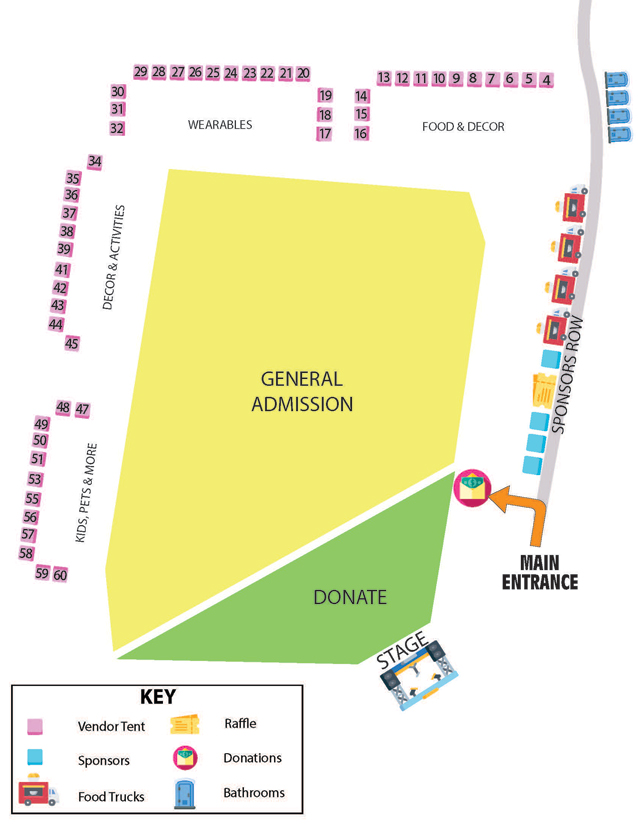 Map of vendors at upcoming event