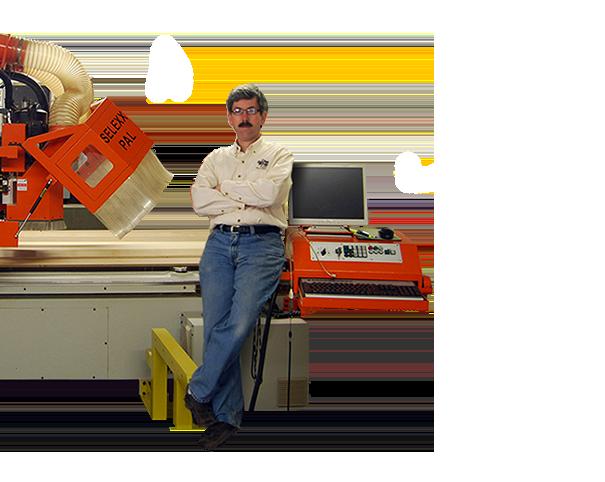 lelan thomasset with machinery