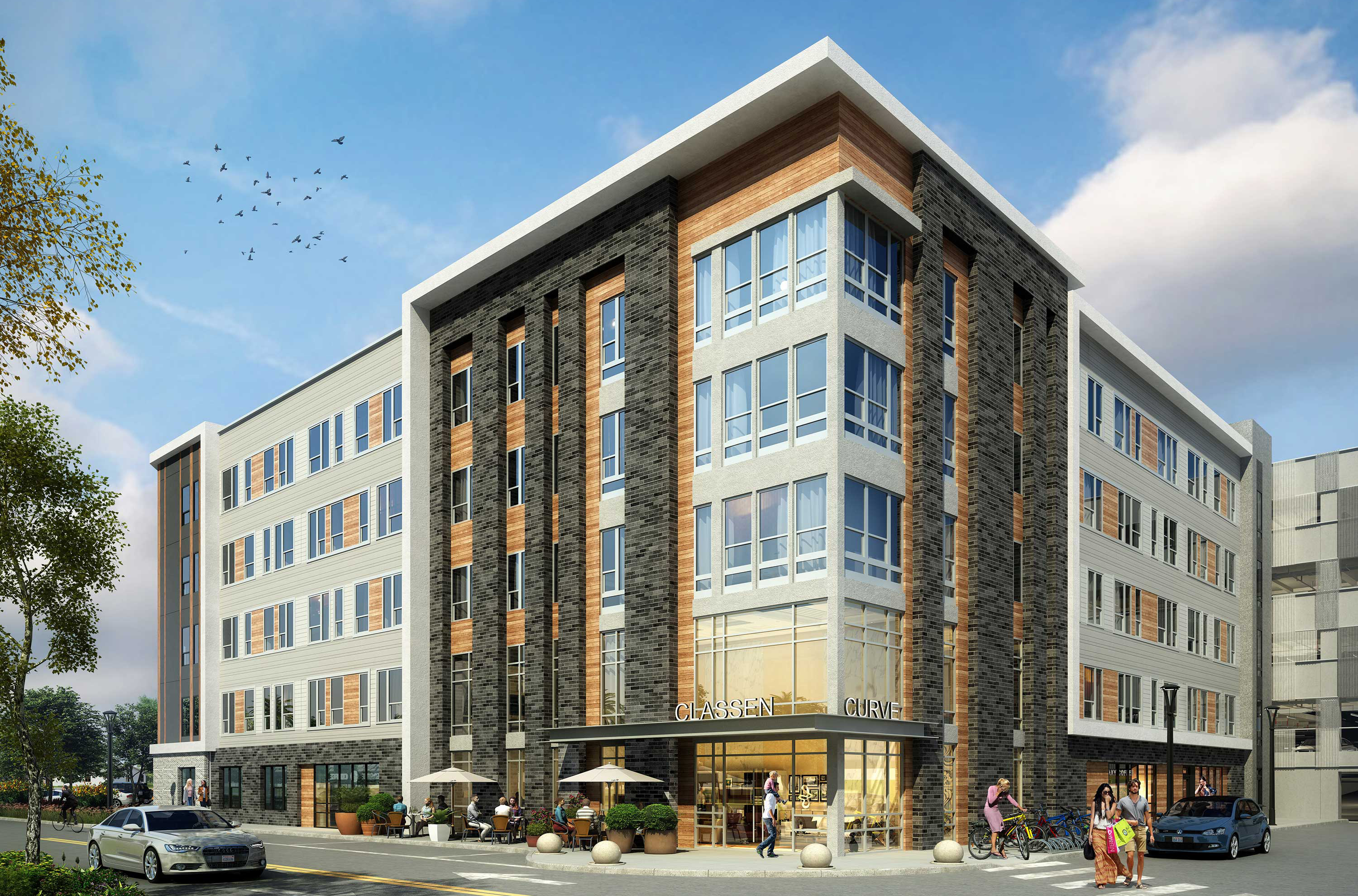 Rendering of the Canton at Classen Curve apartments