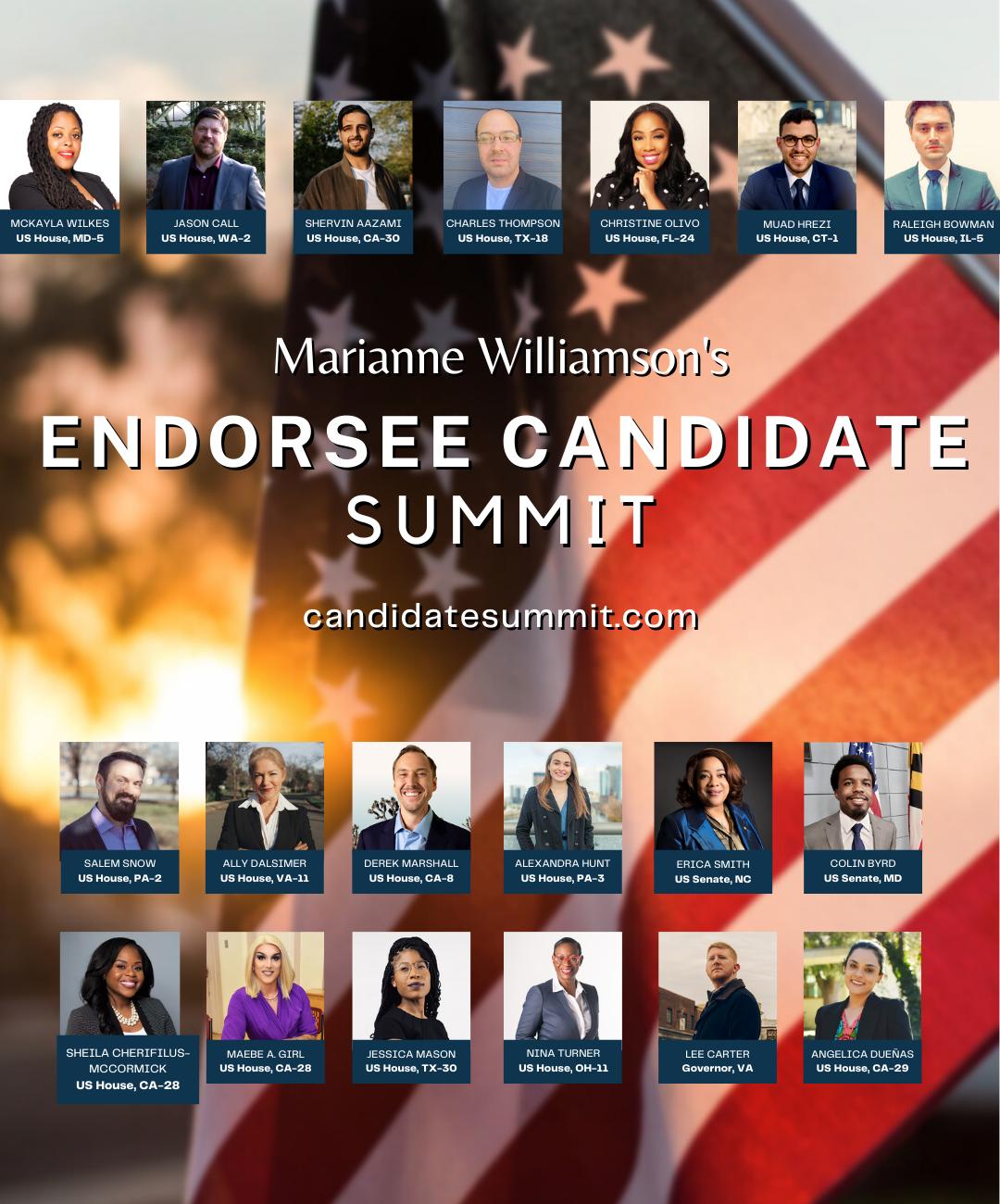 Marianne Williamson's Endorsee Candidate Summit