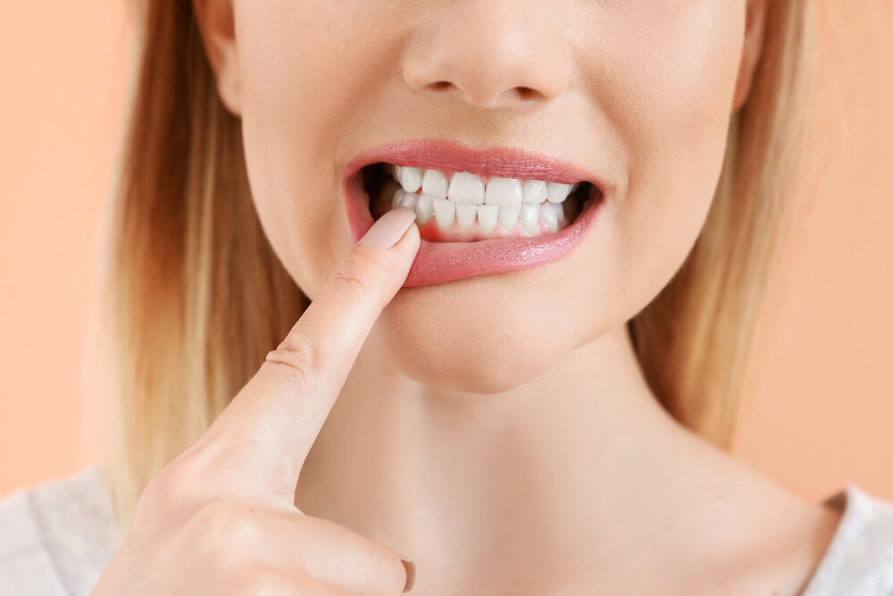 Patient with gum disease