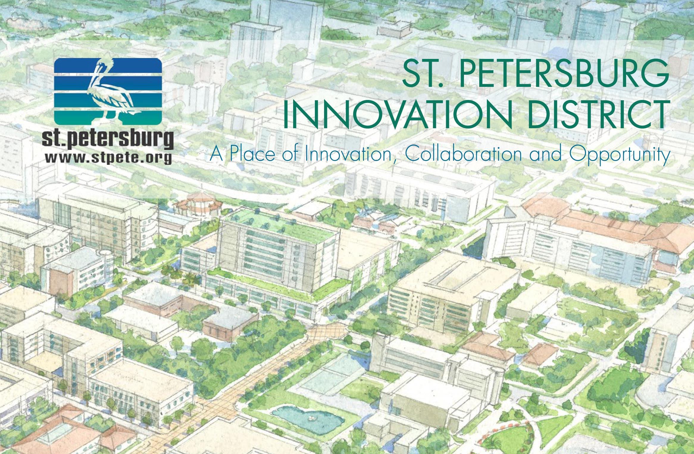 Cover art for the 2015 District Visioning Summary