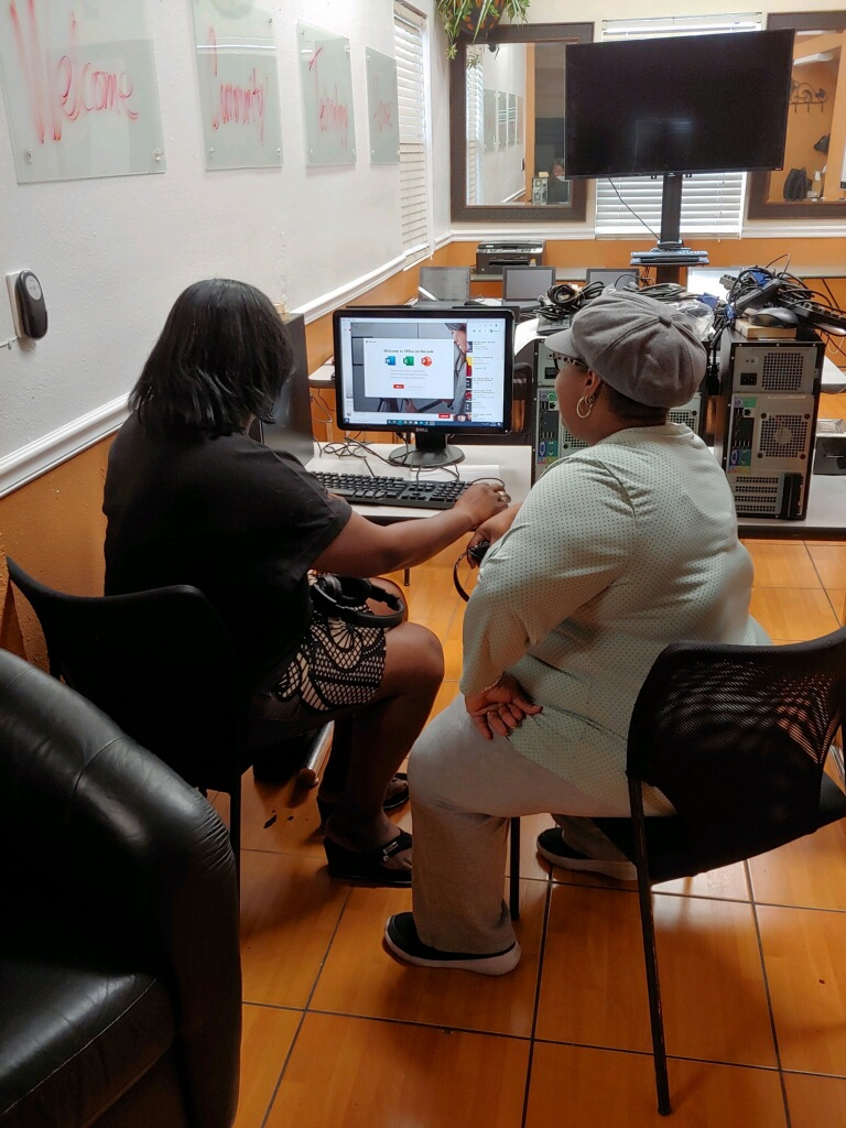 Two women at St Pete digital inclusion