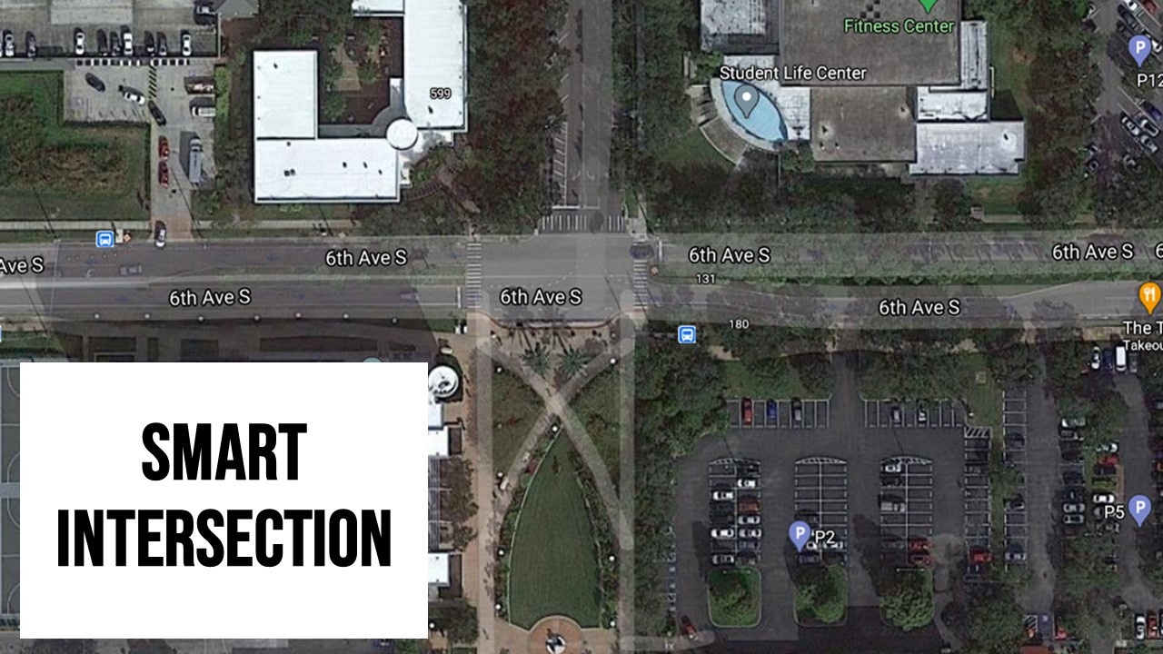 Smart intersection from aerial view