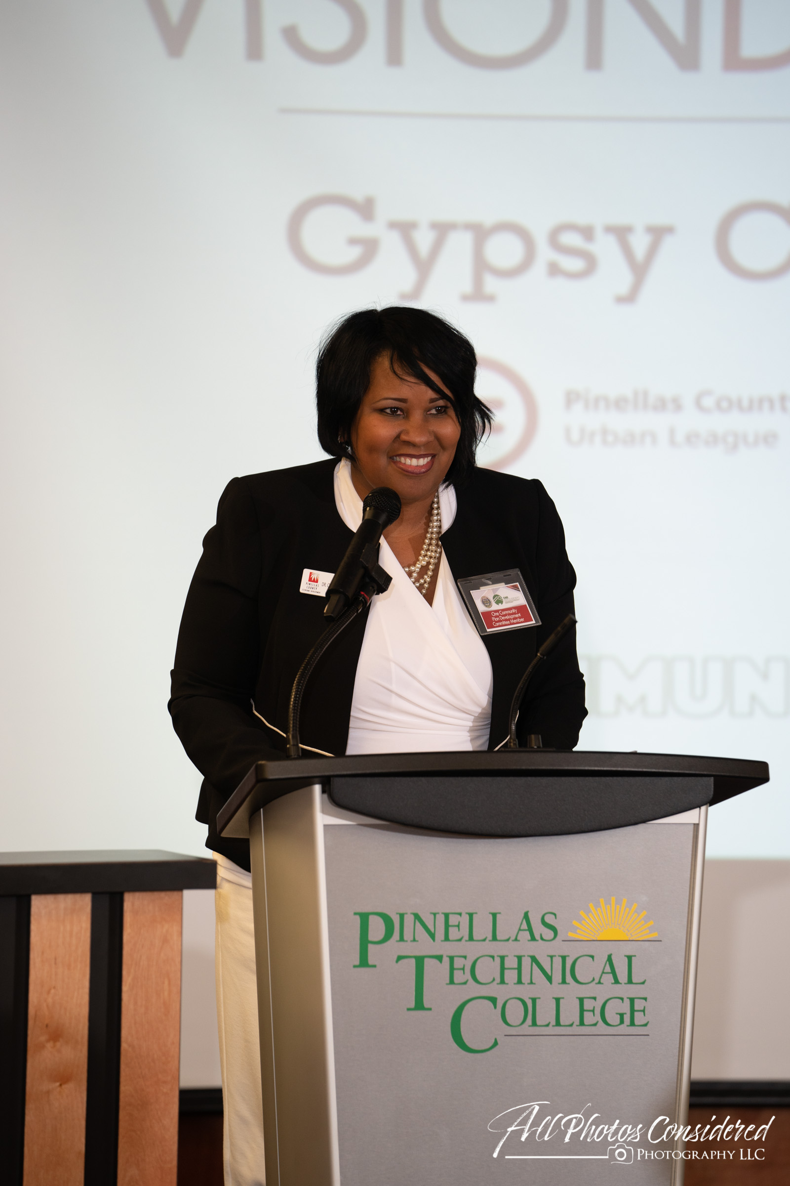 Woman speaking at Pinellas Technical College