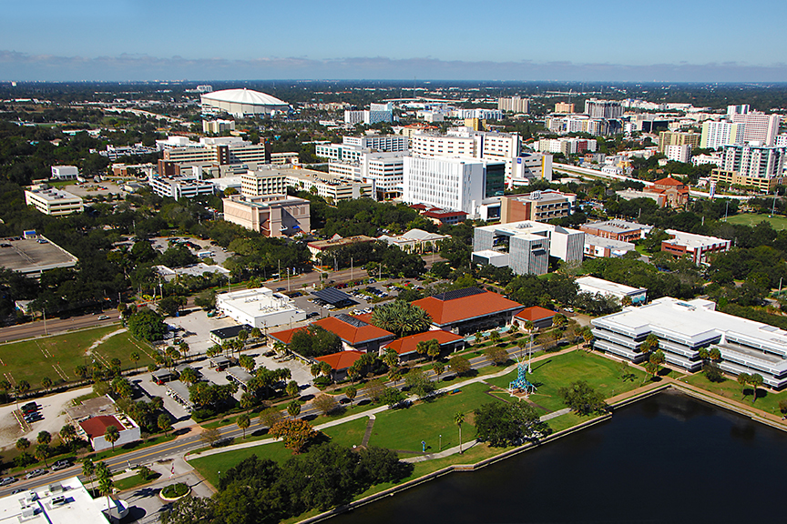 An aerial shot of the SPID