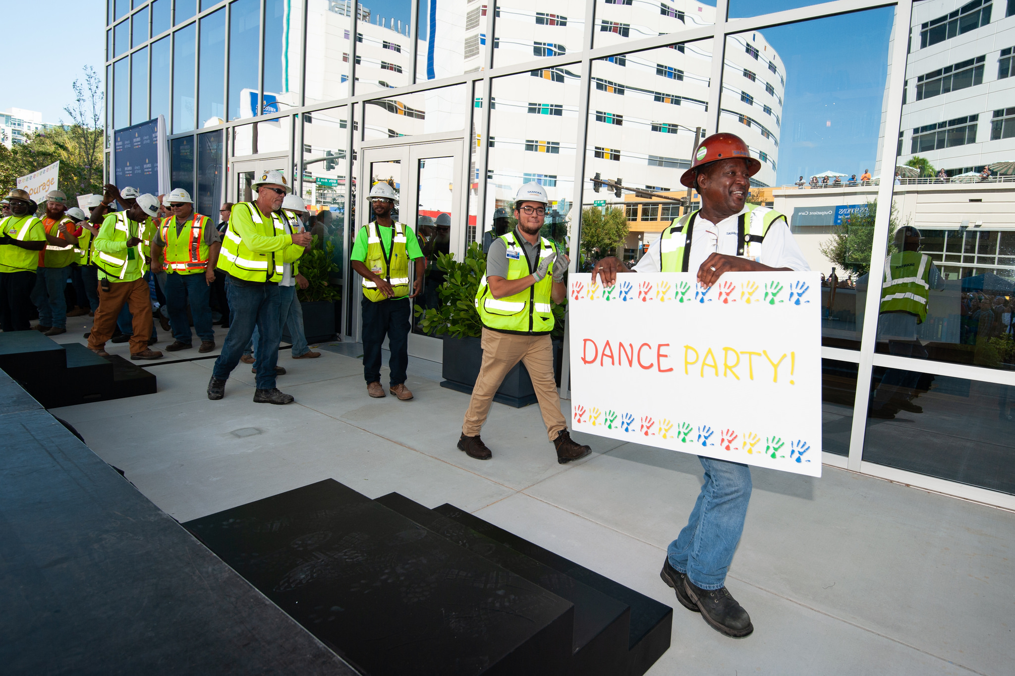 Dance party walking around St. Pete