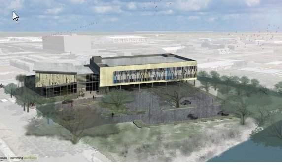 Exterior view of the plans for Tampa Bay innovation center