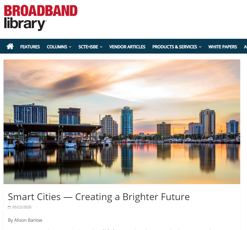 Smart city photo from bay of St. Pete