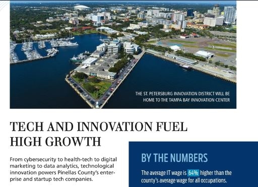 Aerial view of St Pete innovation district