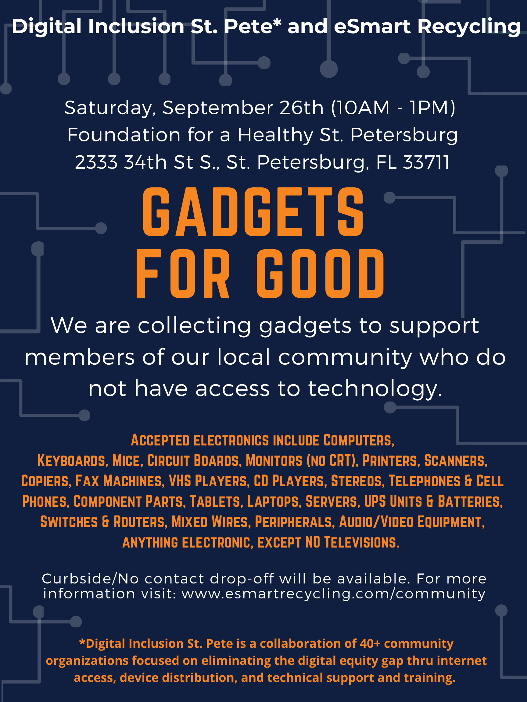 Flyer for Gadgets for Good