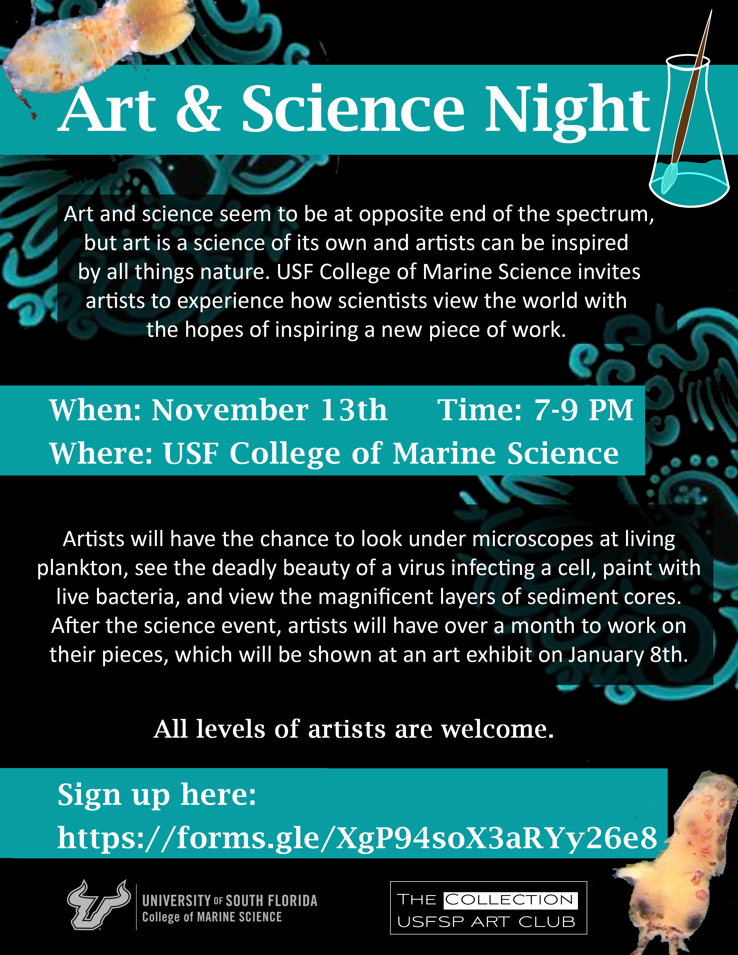 Art and science flyer