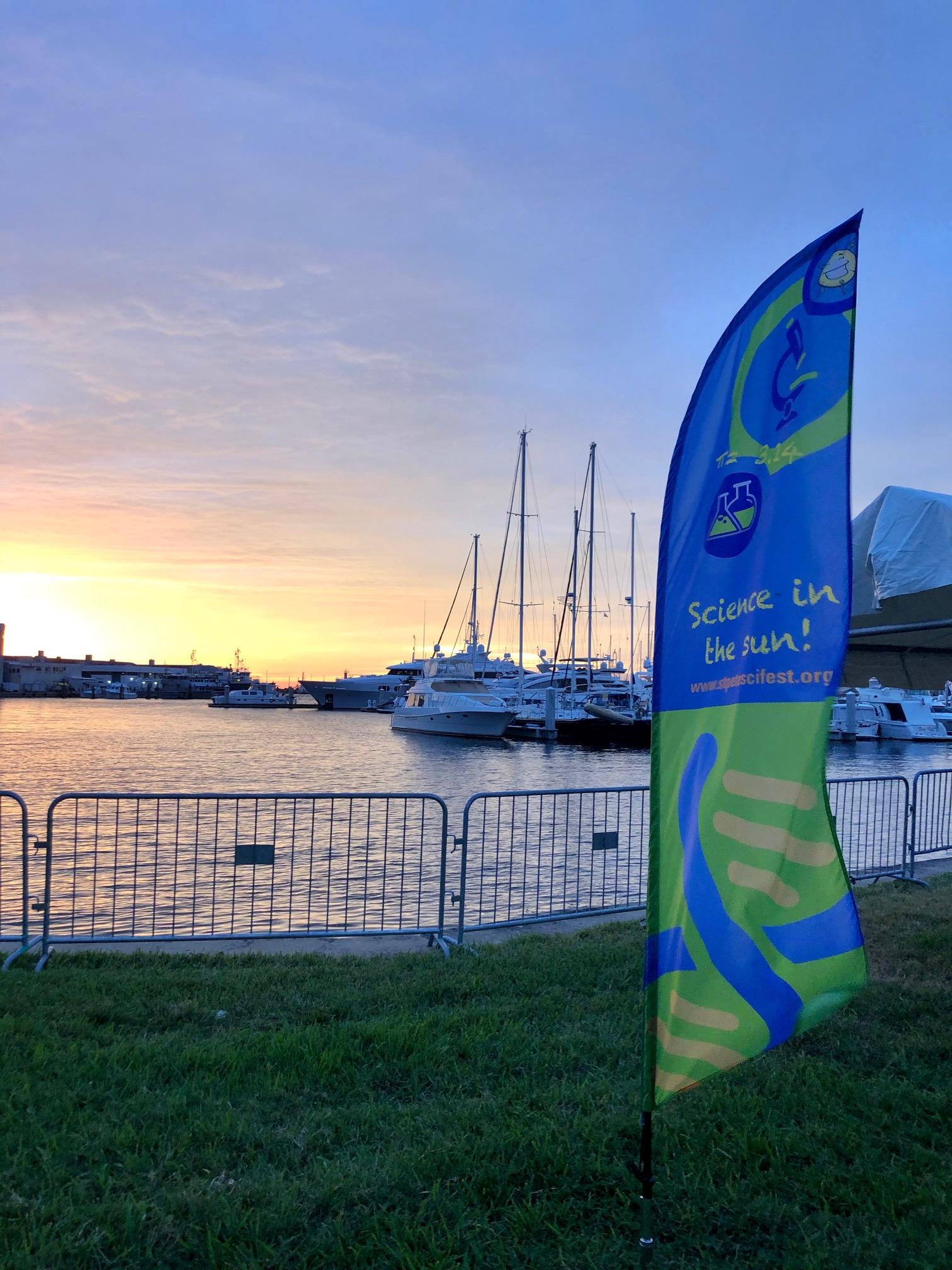 Sunrise over the St Pete science festival
