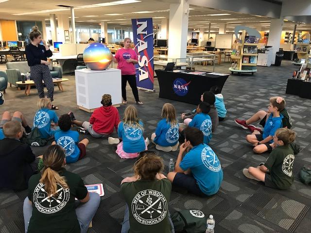 Children listening to science presentation