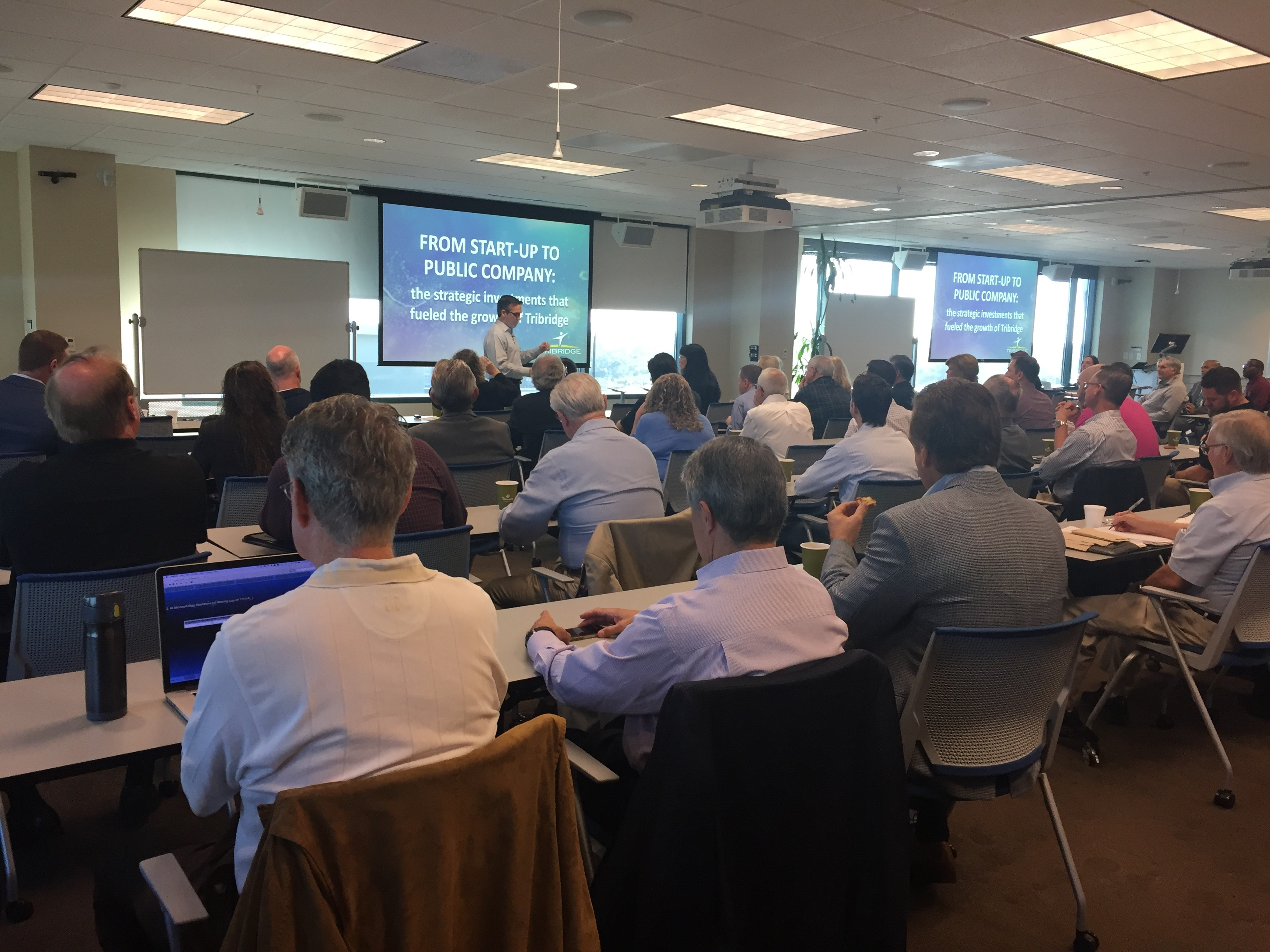 Speaker with audience at the Tampa Bay Innovation Center.