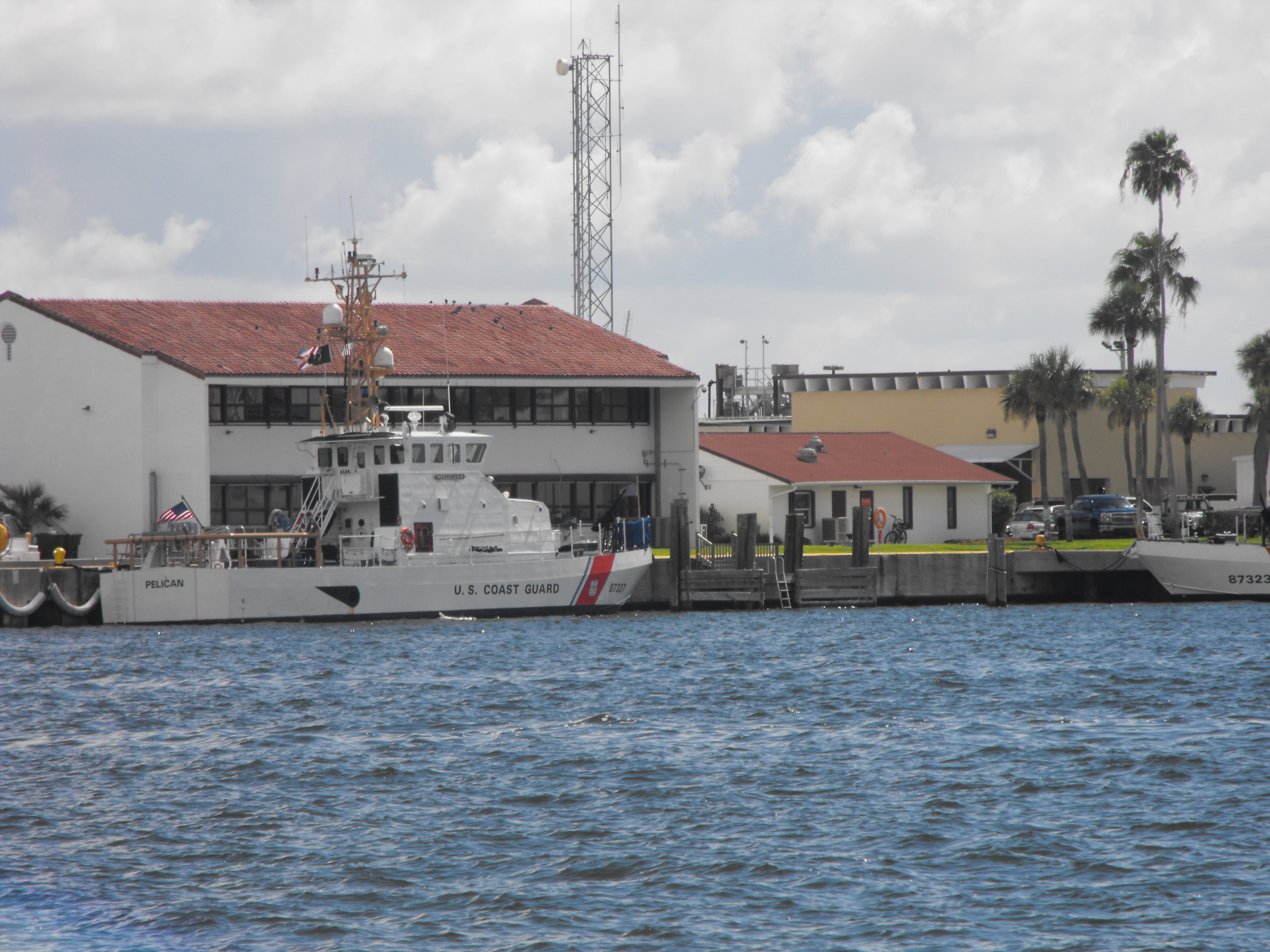 View of the Coast Guard base from the bay
