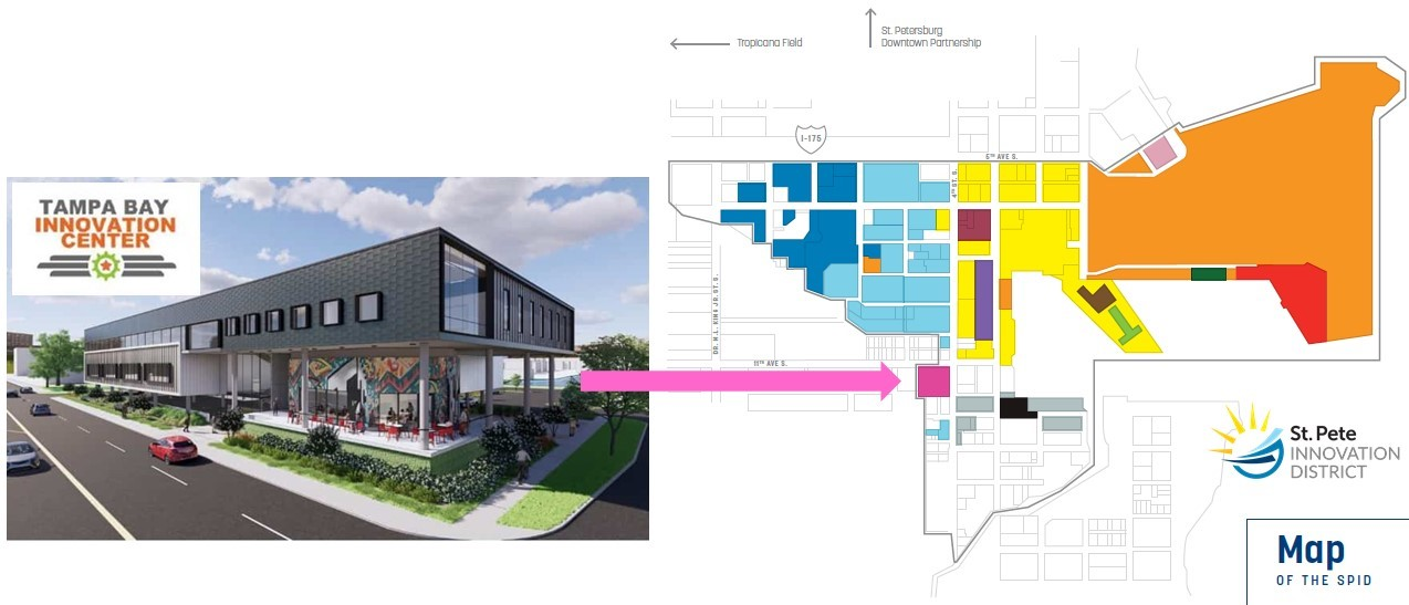 Photo: Rendering of the new building and its future location at the corner of 4th Street S and 11th Ave S