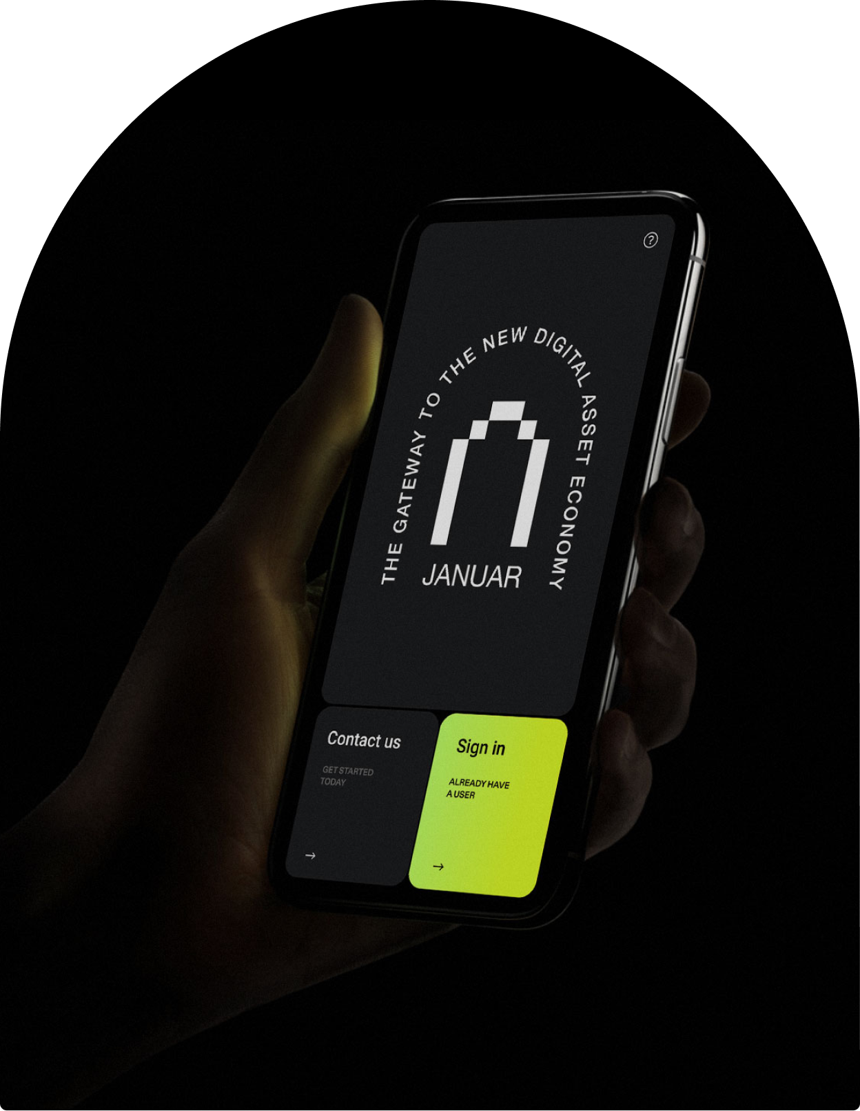 Januar user interface on mobile