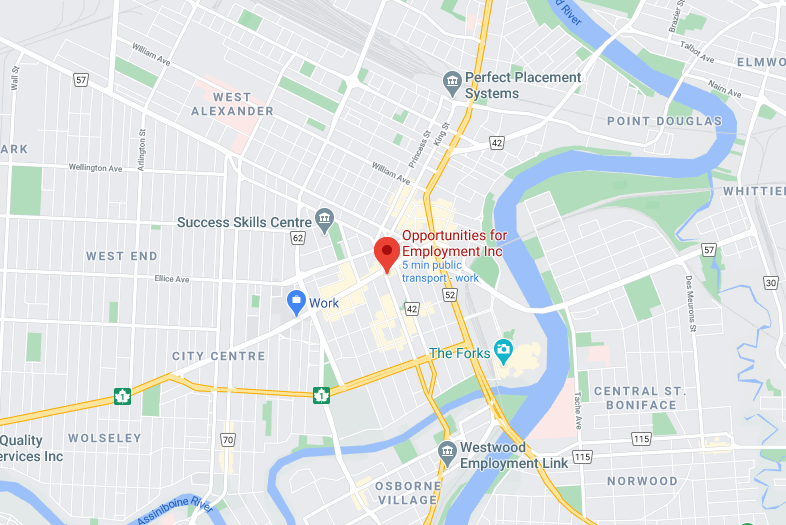 Image of a Map showing the location of the OFE office.