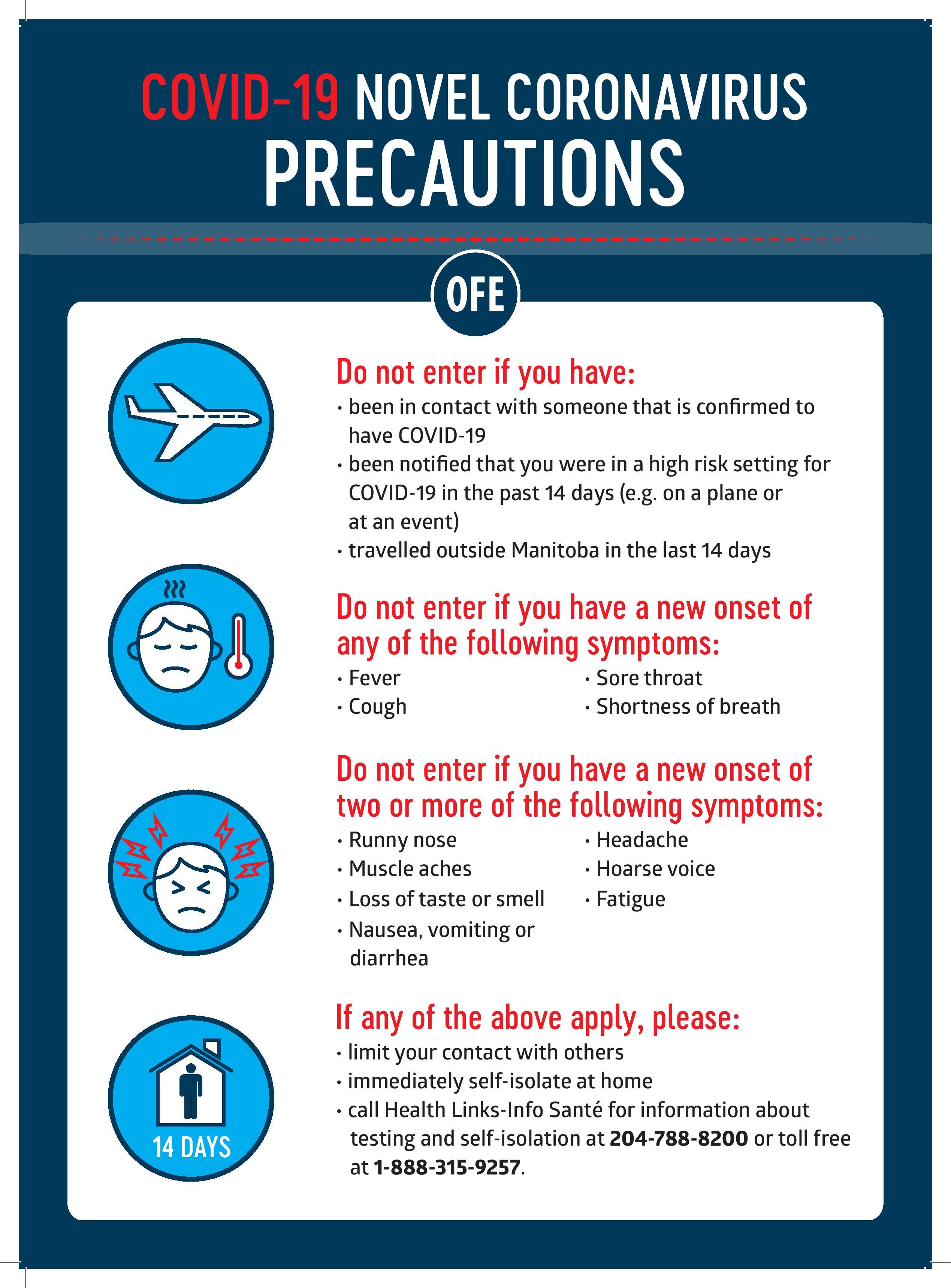 COVID-19 List of Precautions