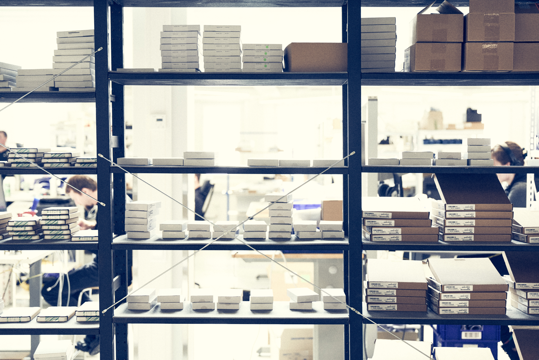 Organized parts and products at a repair shop. You need a system and a software tool that gives you the ability to locate parts and products instantly.