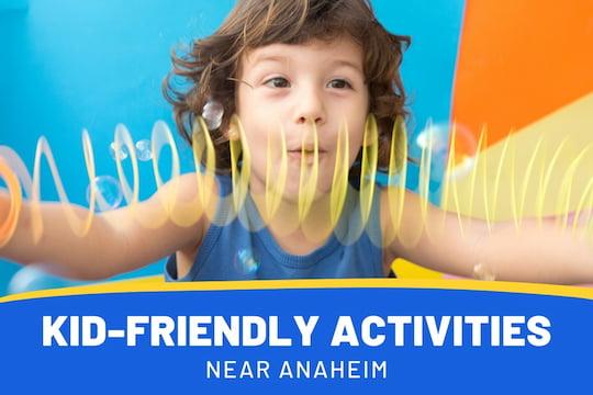 Boy having fun with a slinky - Kid-Friendly Activities near Anaheim
