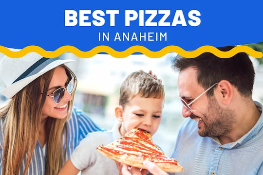 Family eating pizza - Best Pizzas in Anaheim