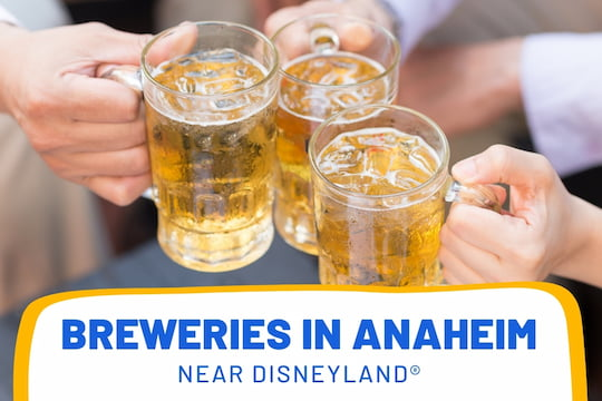 People cheering with beer - Breweries in Anaheim near Disneyland