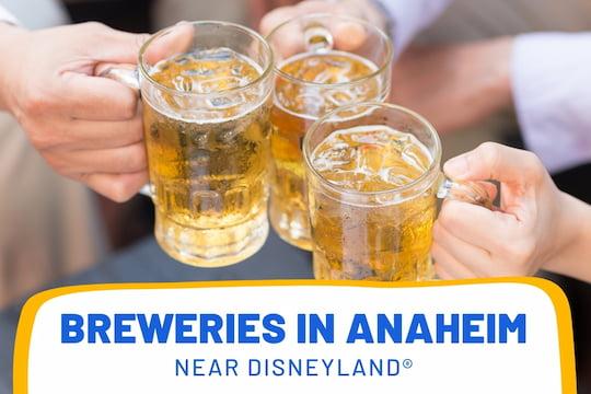 People cheering with beer - Breweries in Anaheim near Disneyland