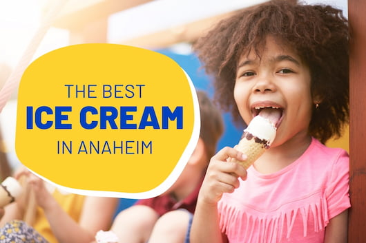 Little girl eating ice cream - The Best Ice Cream in Anaheim