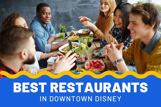 People eating food together - Best Restaurants in Downtown Disney