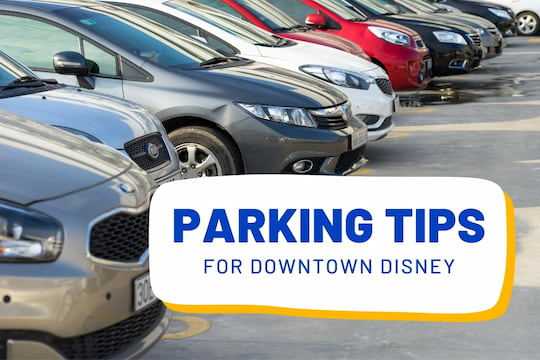 Cars parked in a parking lot - Parking Tips for Downtown Disney