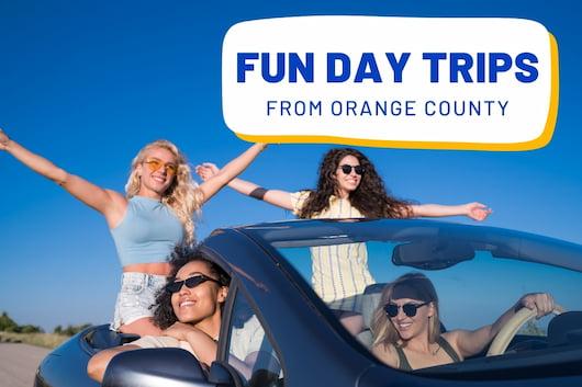 Fun Day Trips From Orange County - Women having fun in a car