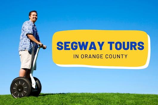 Segway Tours in Orange County - Man on a Segway