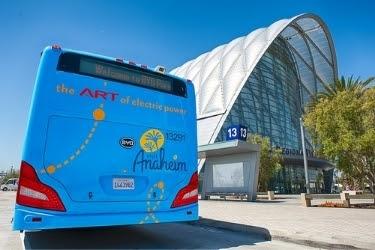 ART Bus outside Anaheim Regional Transportation Intermodal Center
