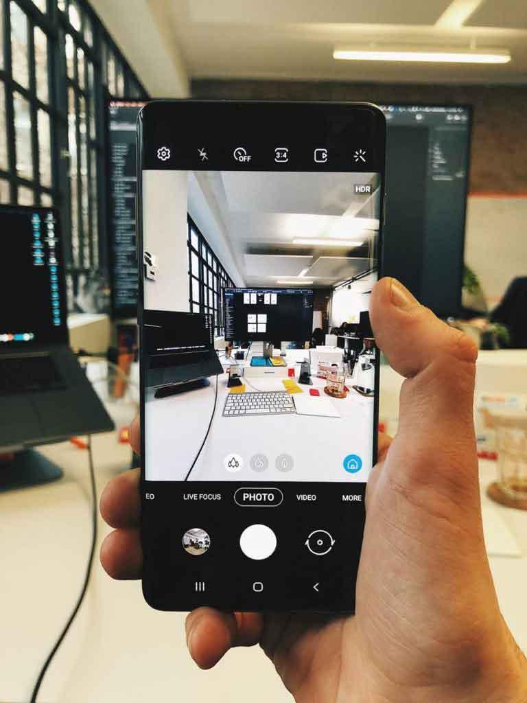 photo sur smartphone