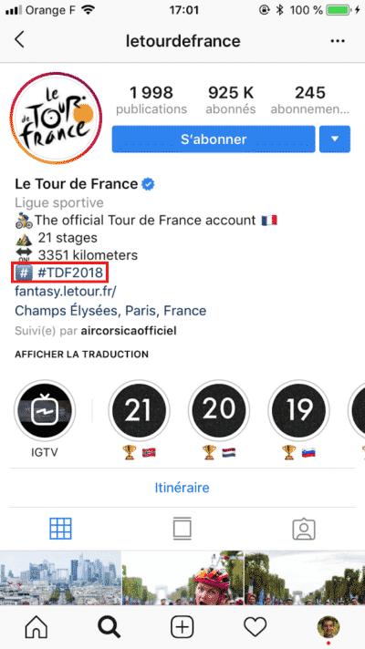 Instagram Hashtag Dédié