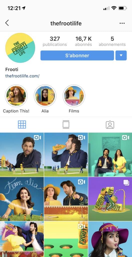 la cohérence et Instagram