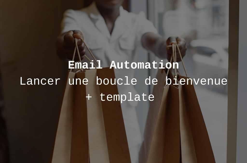 exemple série email bienvenue