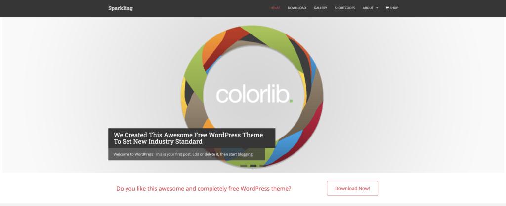 sparkling theme wordpress