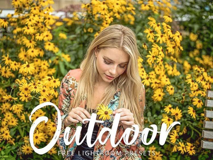 Preset outdoor gratuit pour lightroom