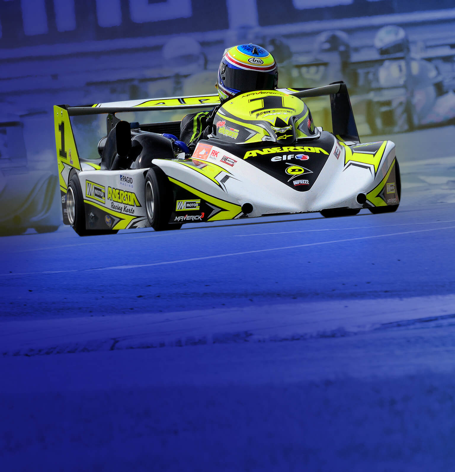 Anderson Racing Kart driven by Peter Elkmann