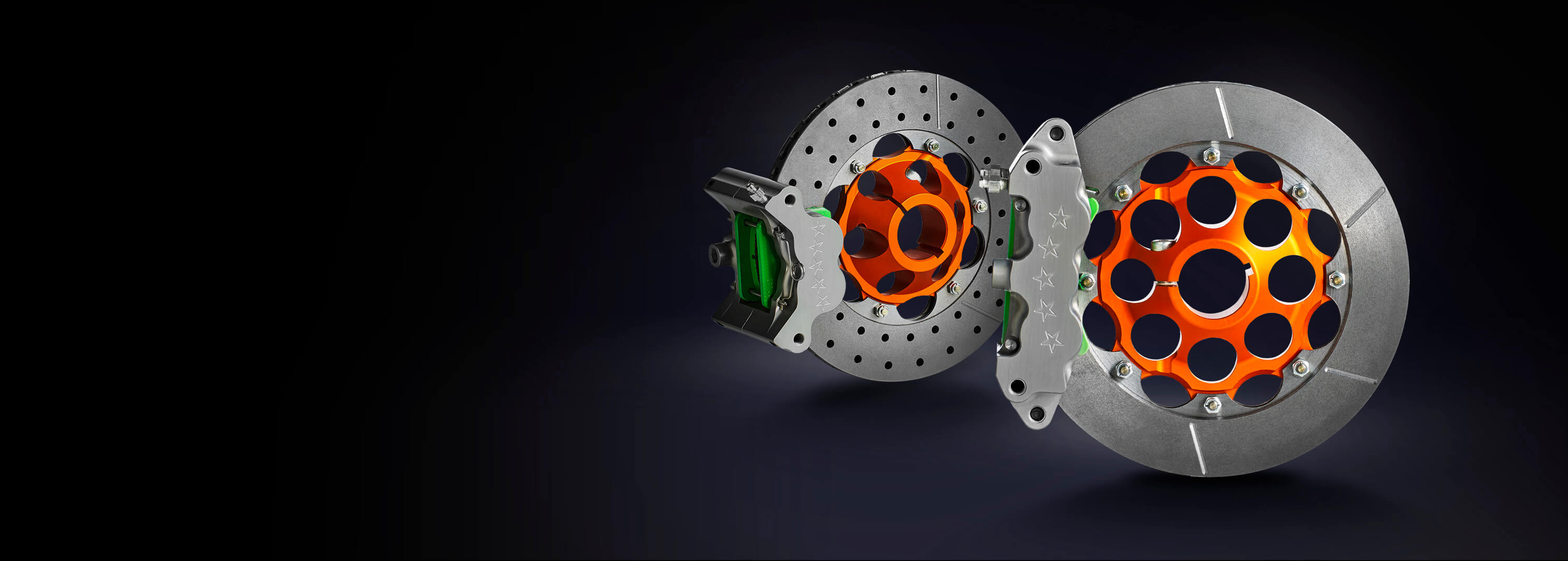 An image of brake components that we manufacture at Anderson Karts