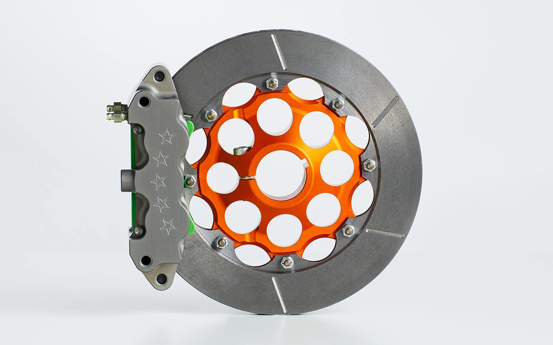 6 piston rear brake calliper & disk