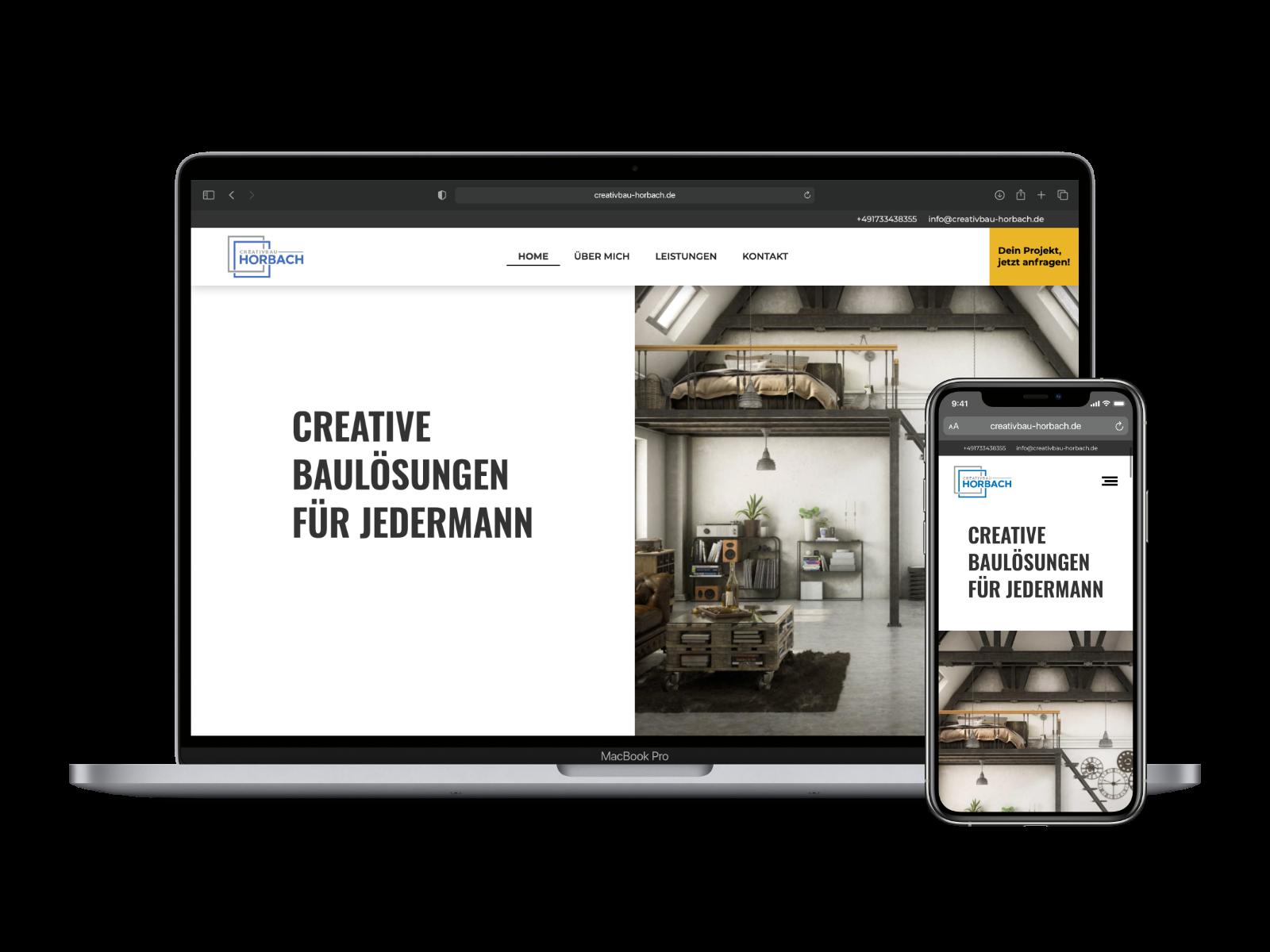 Website für Dachdecker