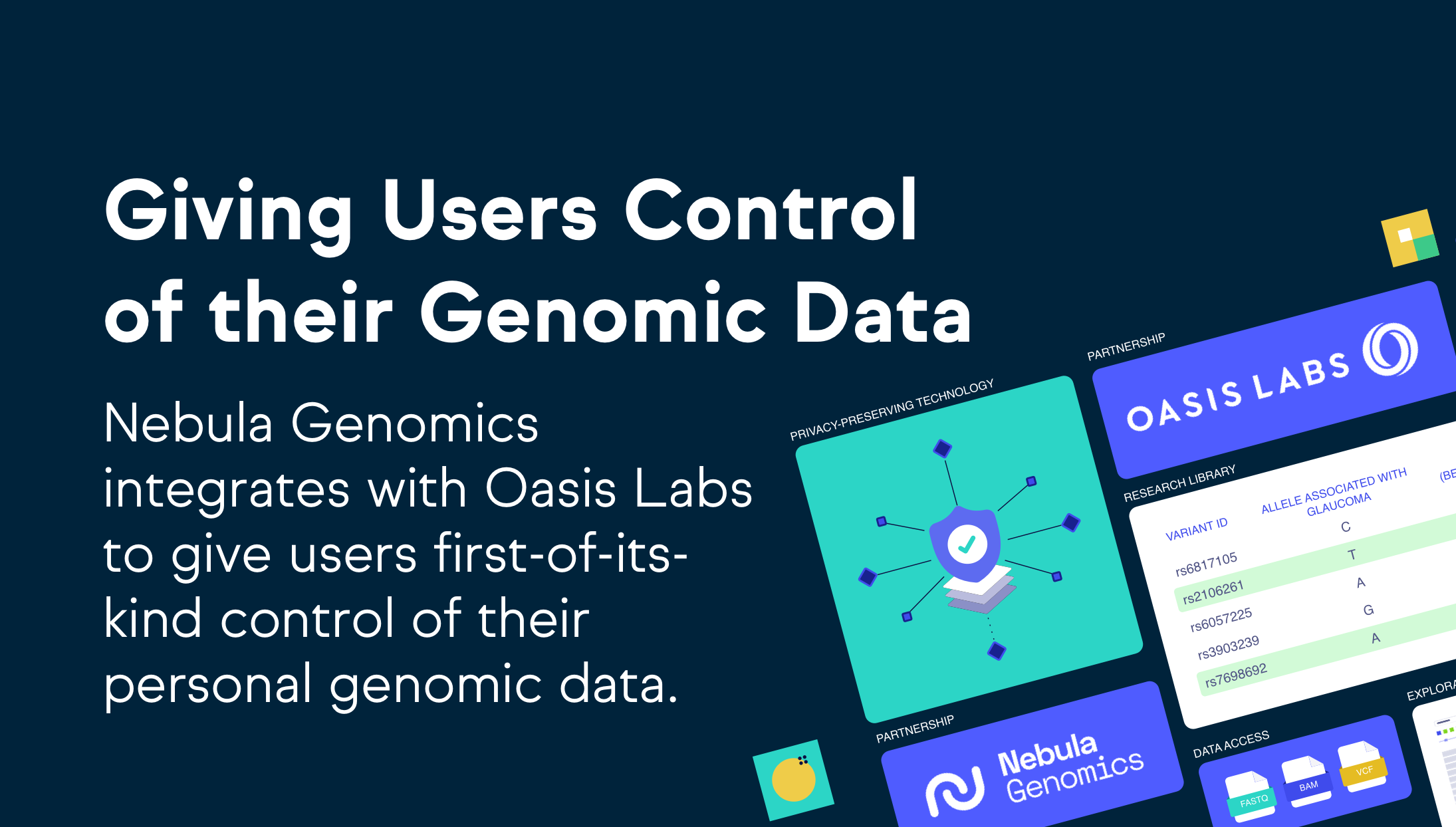 Giving Users Control of their Genomic Data