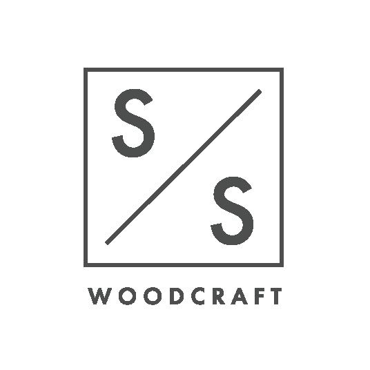 S&S Woodcraft logo gray