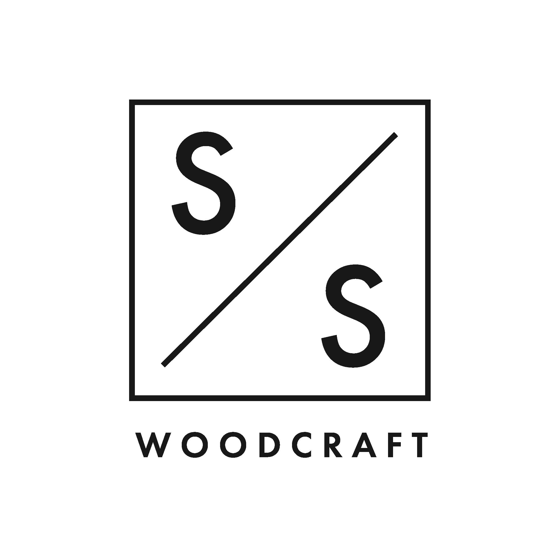 S&S Woodcraft logo black